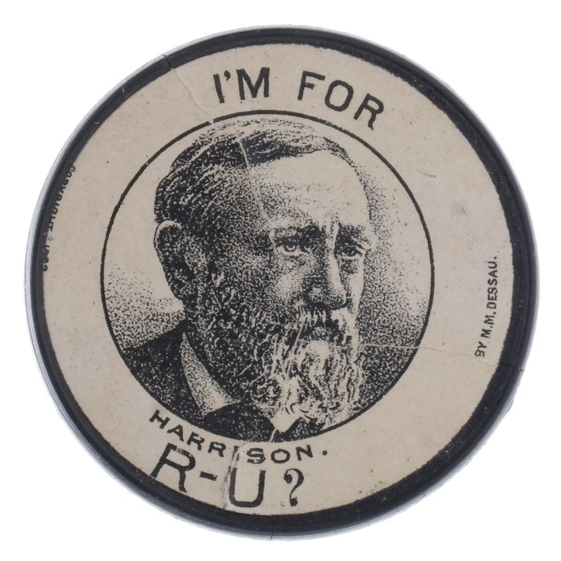 G. Cleveland & B. Harrison 1888 Advertising Poker Chips - 4
