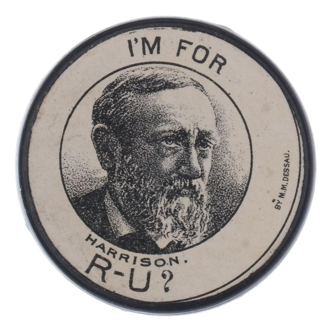 G. Cleveland & B. Harrison 1888 Advertising Poker Chips - 5