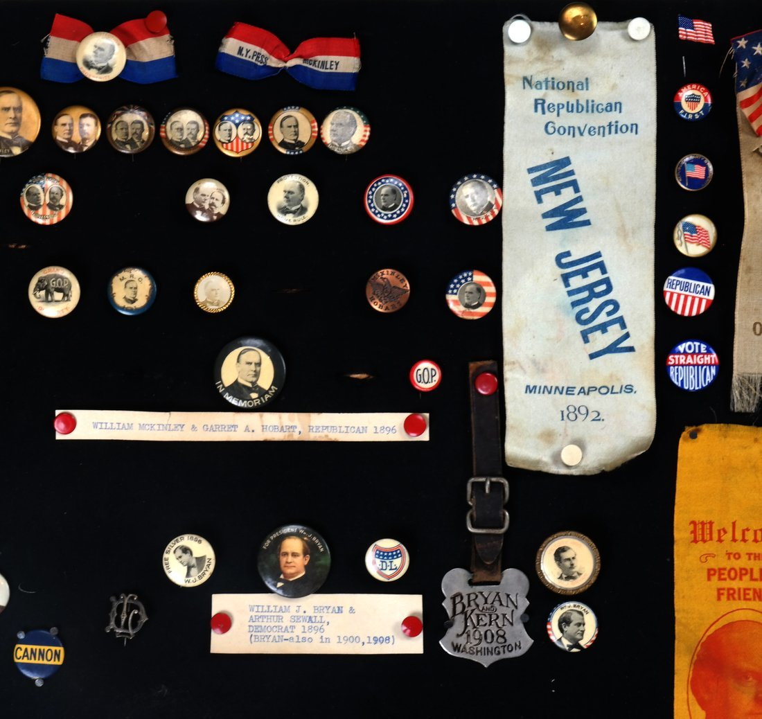 1892 Through 1904 Presidential Campaign Display - 2