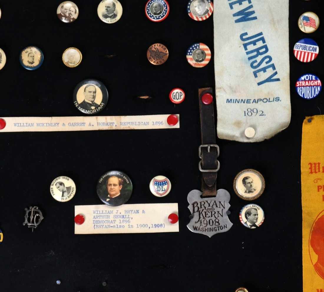 1892 Through 1904 Presidential Campaign Display - 7