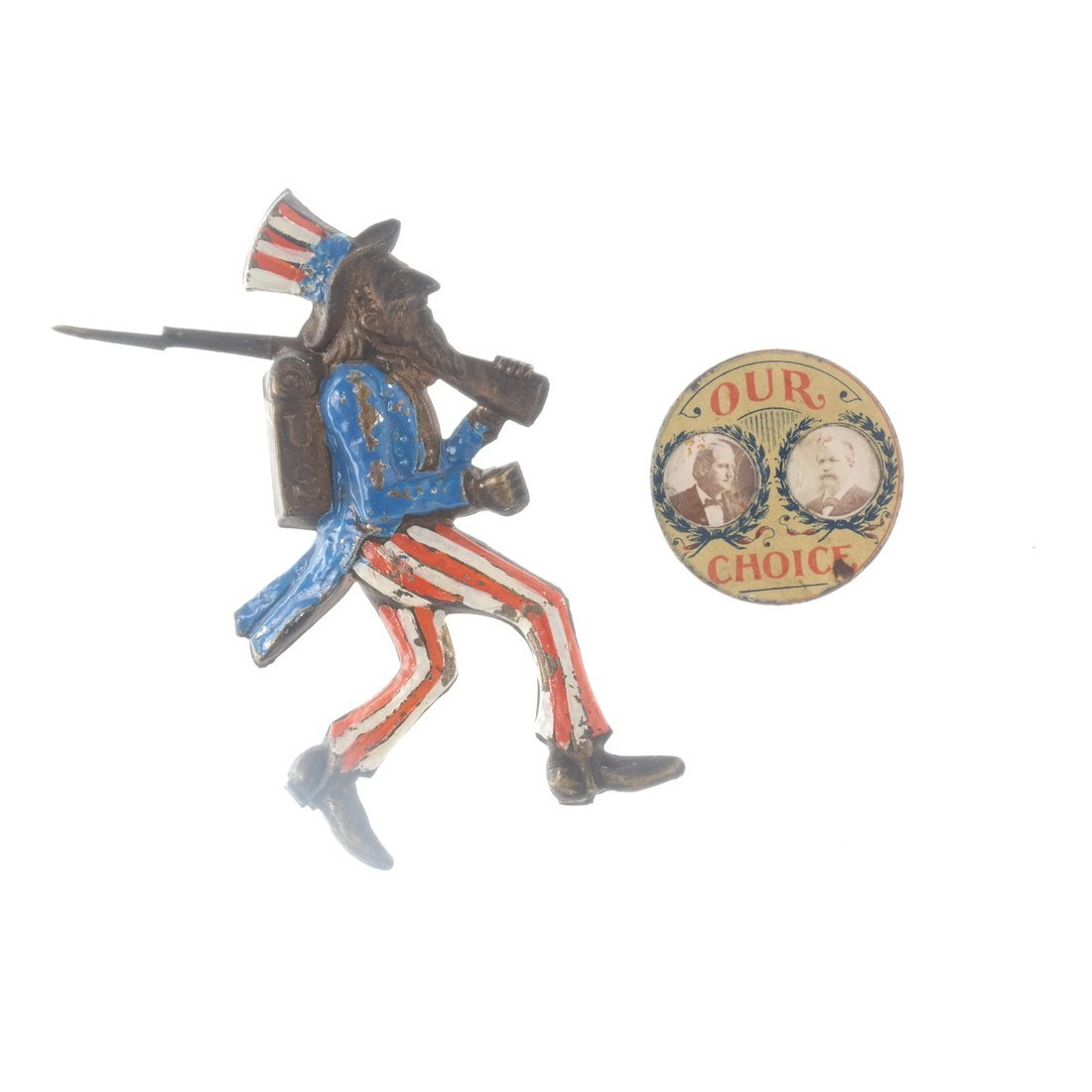 Two 1896 Presidential Campaign Pins