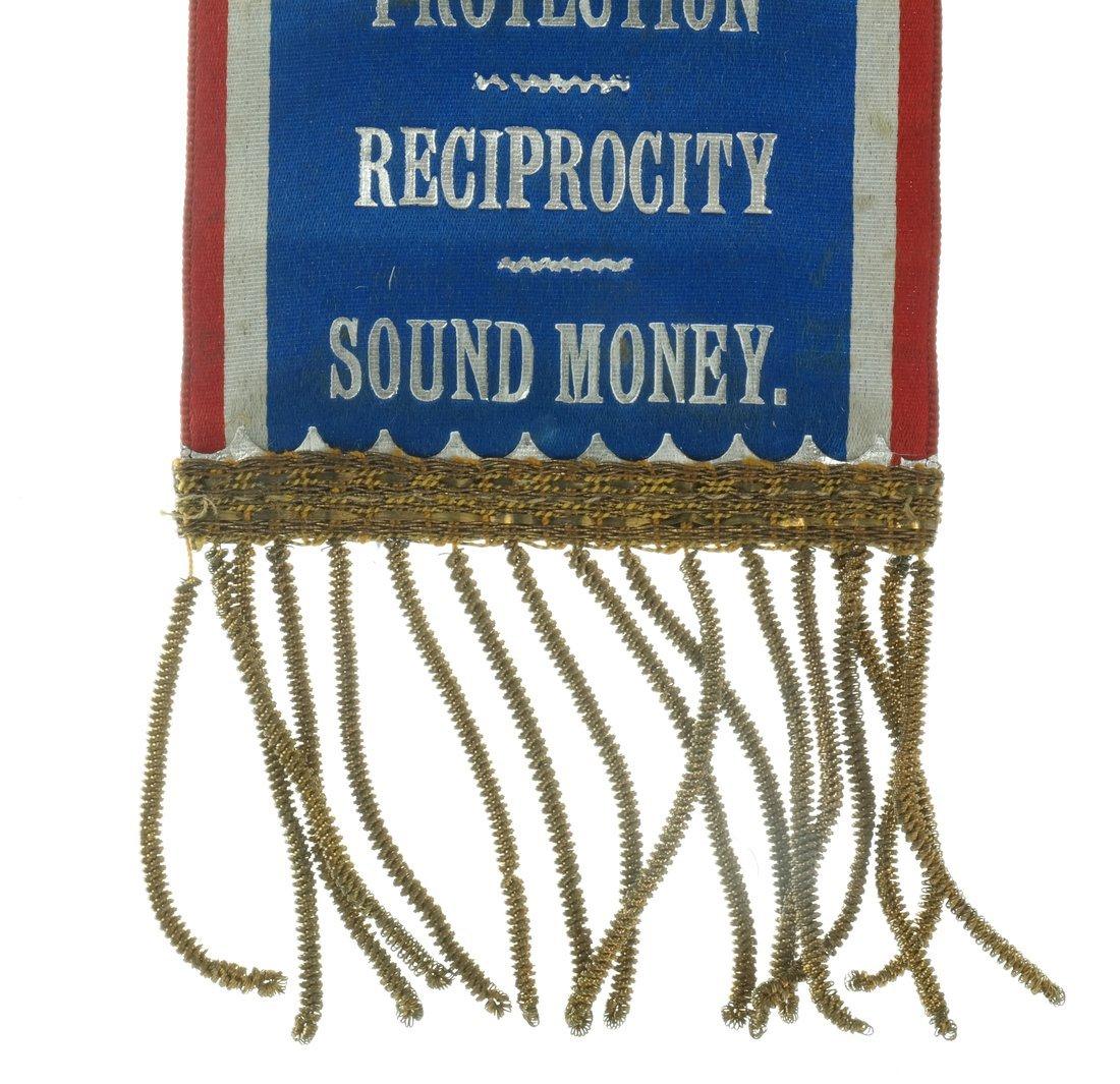 McKinley & Hobart  - Two 1896 Jugate Badges & Ribbons - 4