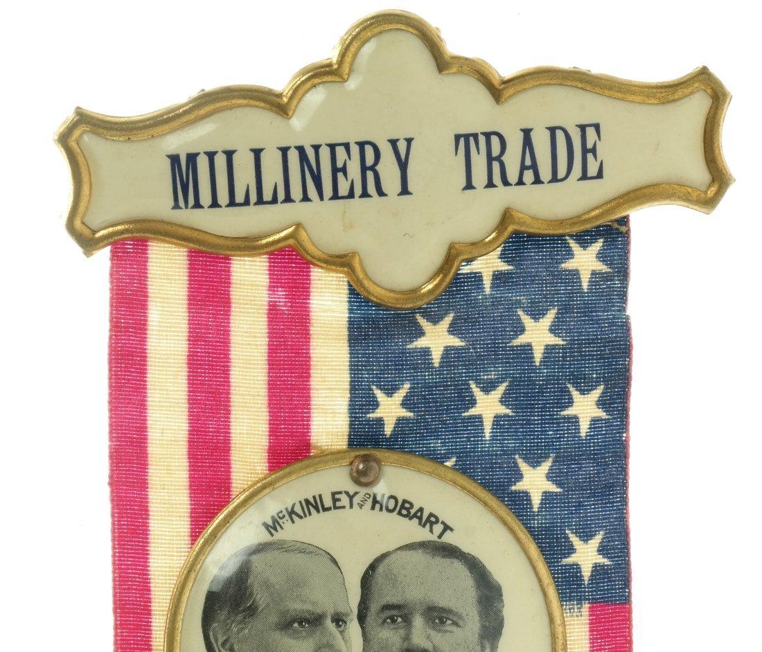 McKinley & Hobart  - Two 1896 Jugate Badges & Ribbons - 7