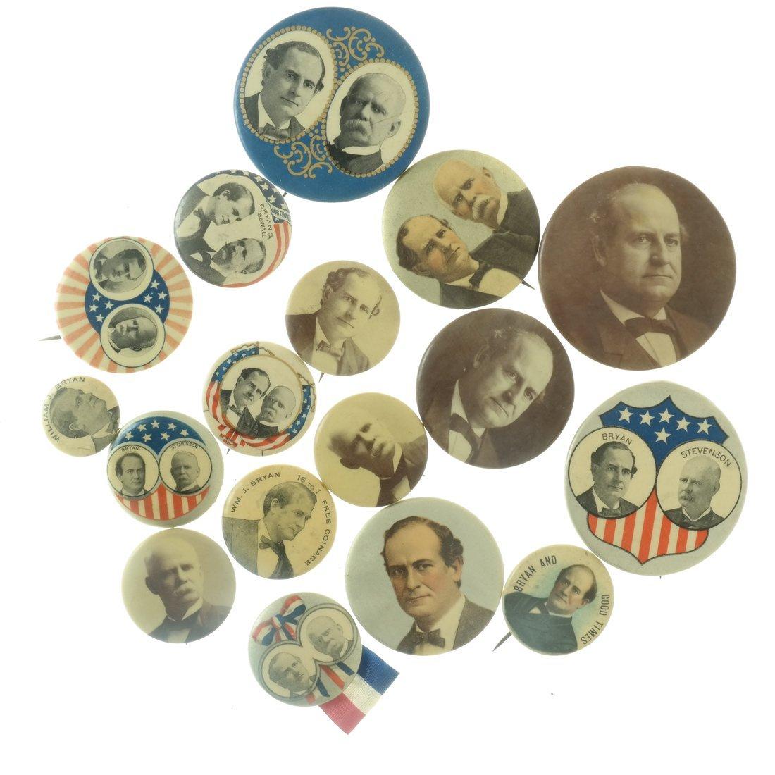 W.J. Bryan - Seventeen 1900 Items