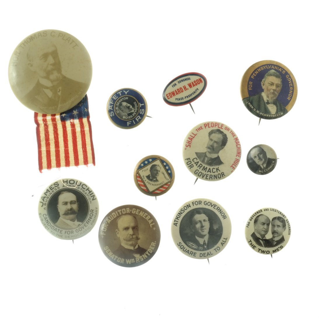 Assorted State and Local Buttons