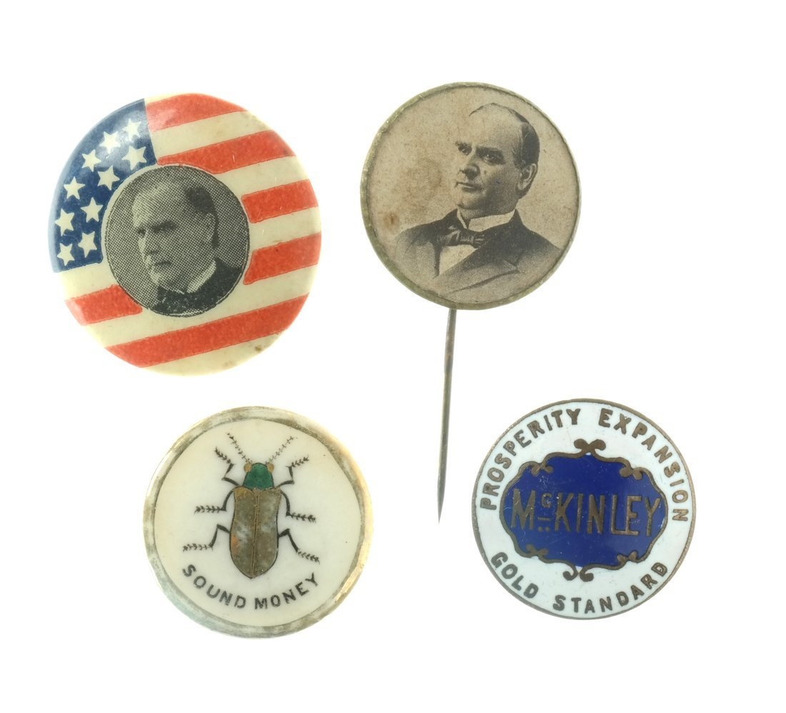 William Mckinley - 1896 & 1900 Buttons And Studs - 3