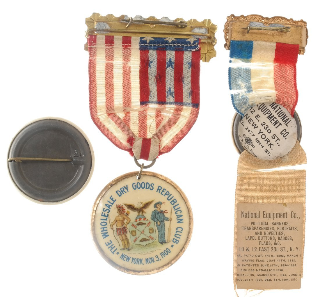 Wm. Mckinley & T. Roosevelt - Three 1900 items - 2