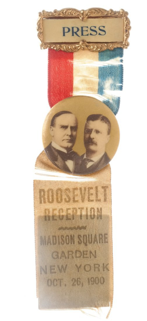 Wm. Mckinley & T. Roosevelt - Three 1900 items - 3