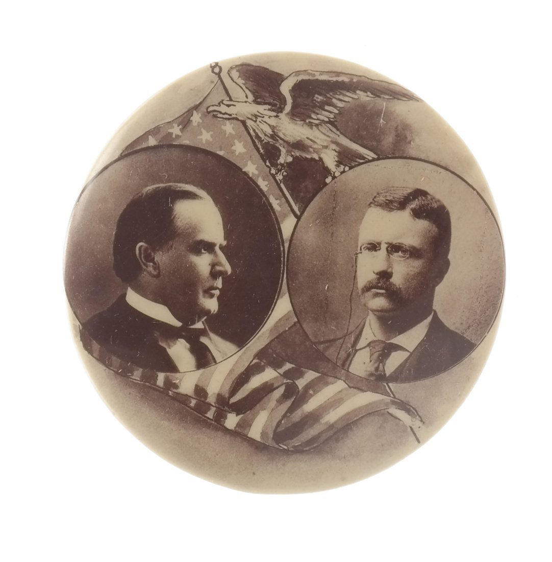 Wm. Mckinley & T. Roosevelt - Three 1900 items - 5