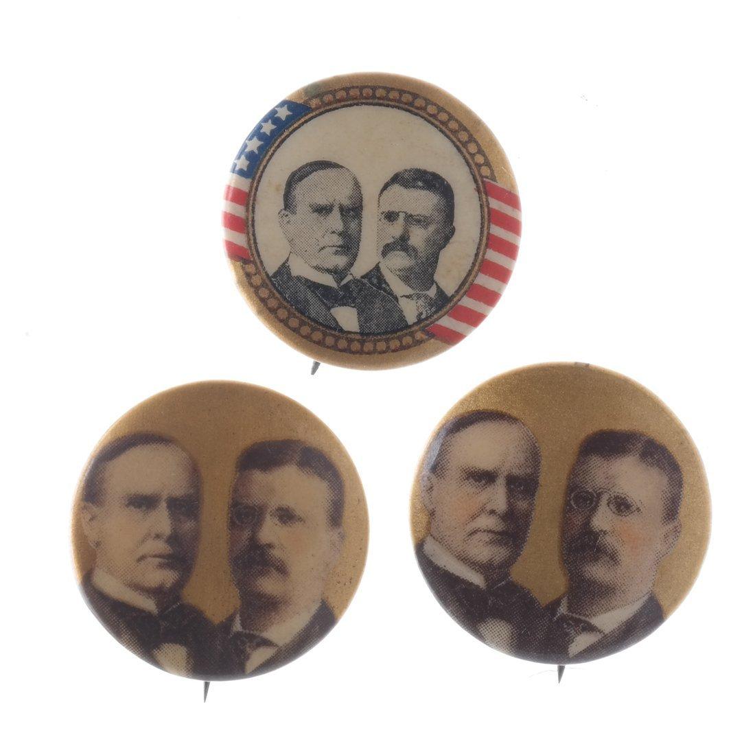 Wm. McKinley, Hobart, and Roosvelt - 1896 & 1900 - 3