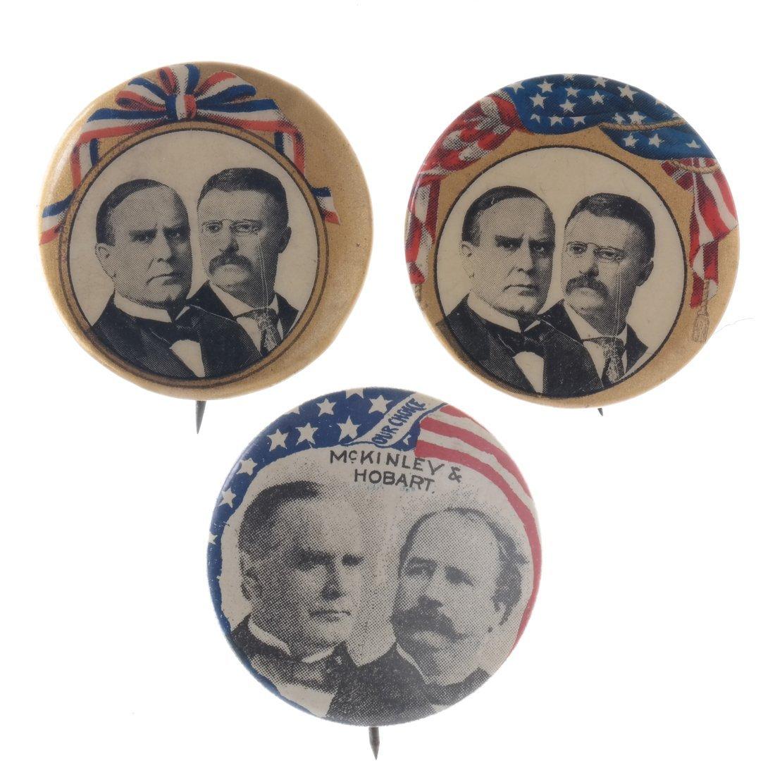 Wm. McKinley, Hobart, and Roosvelt - 1896 & 1900 - 5