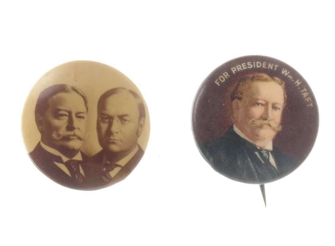 William H. Taft - Six Portrait Pinbacks - 3