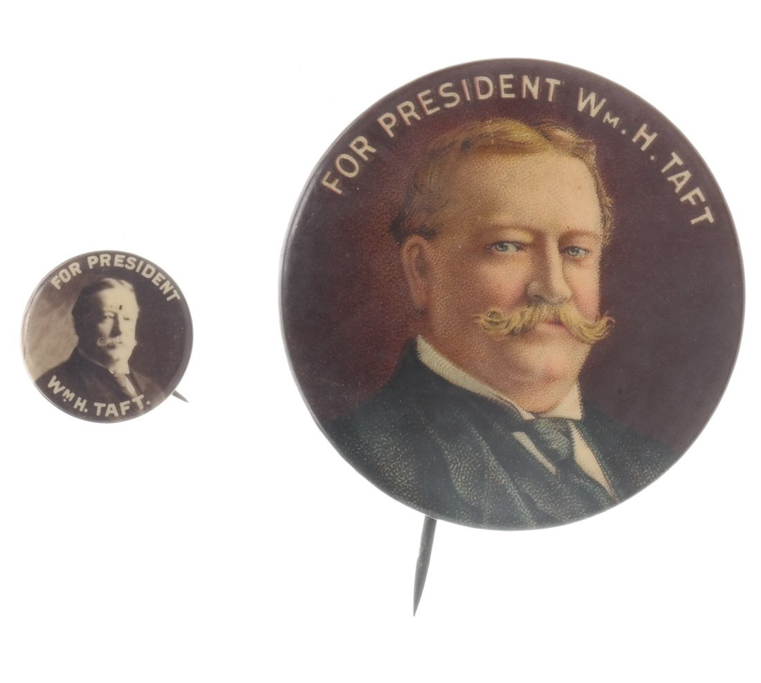 William H. Taft - Six Portrait Pinbacks - 4