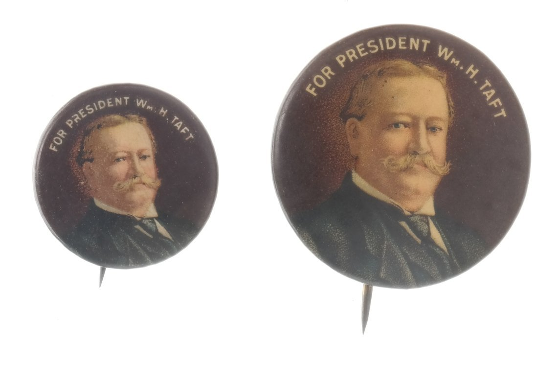 William H. Taft - Six Portrait Pinbacks - 5
