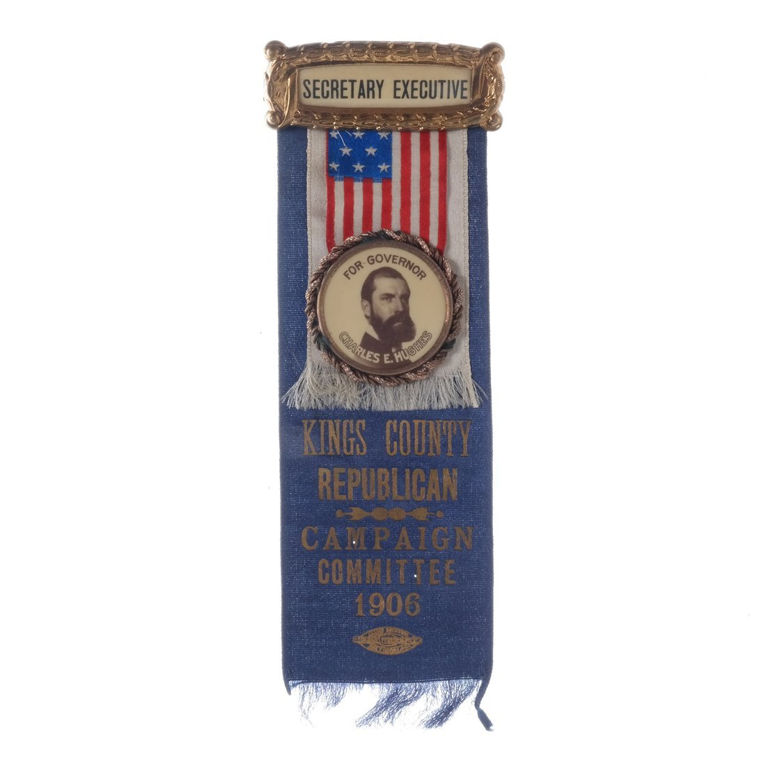 Charles E. Hughes 1906 Gubernatorial Campaign Ribbon