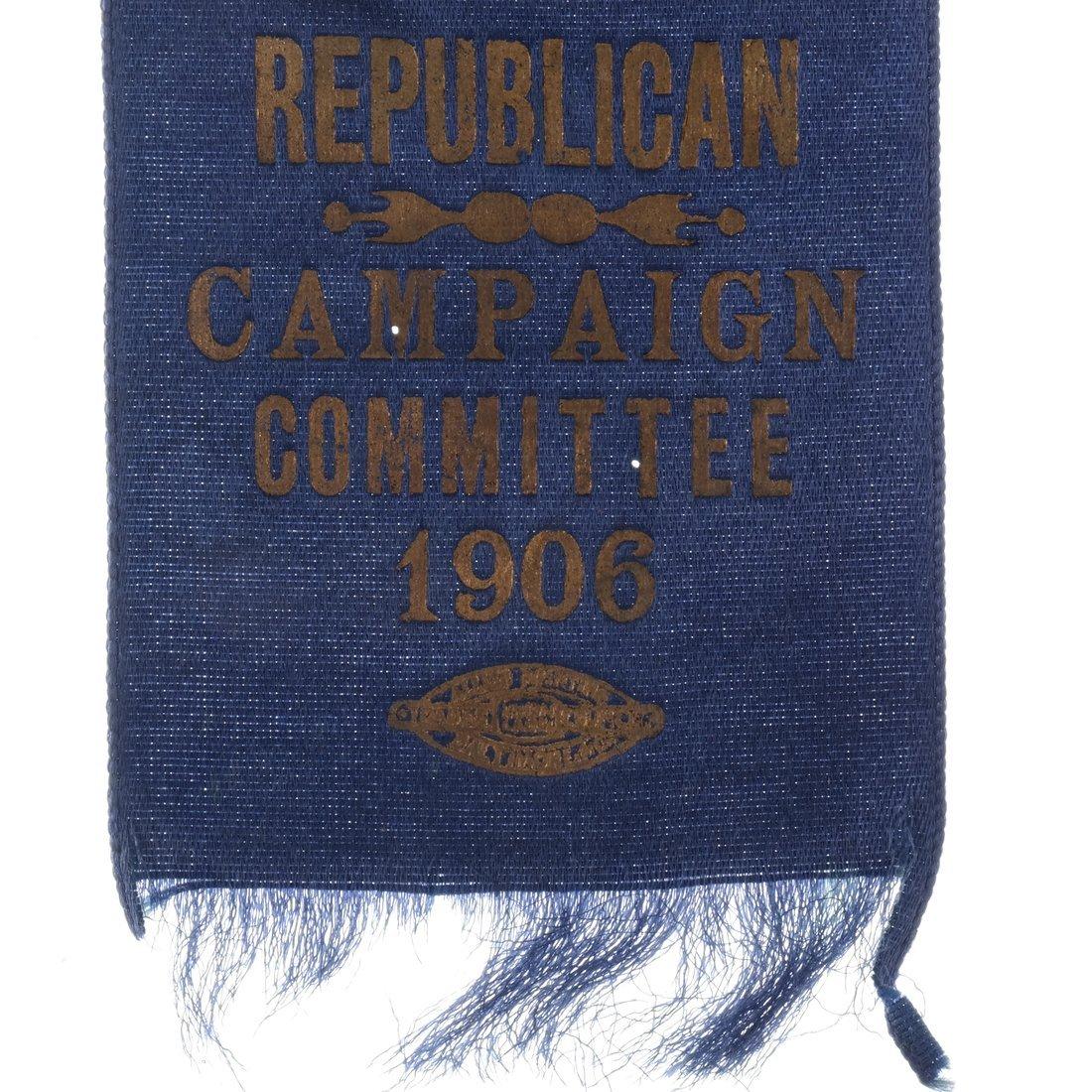 Charles E. Hughes 1906 Gubernatorial Campaign Ribbon - 2