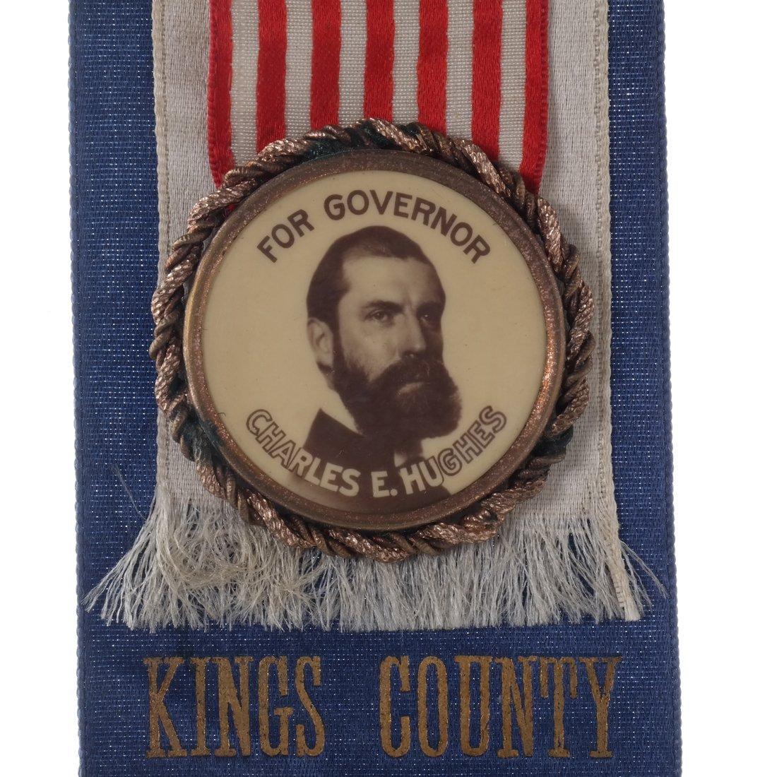 Charles E. Hughes 1906 Gubernatorial Campaign Ribbon - 3
