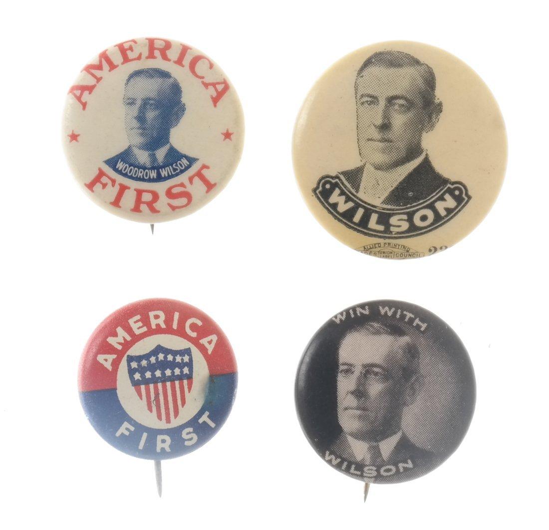 Woodrow Wilson - Ten 1912 &1916 Celluloid Pinbacks - 3
