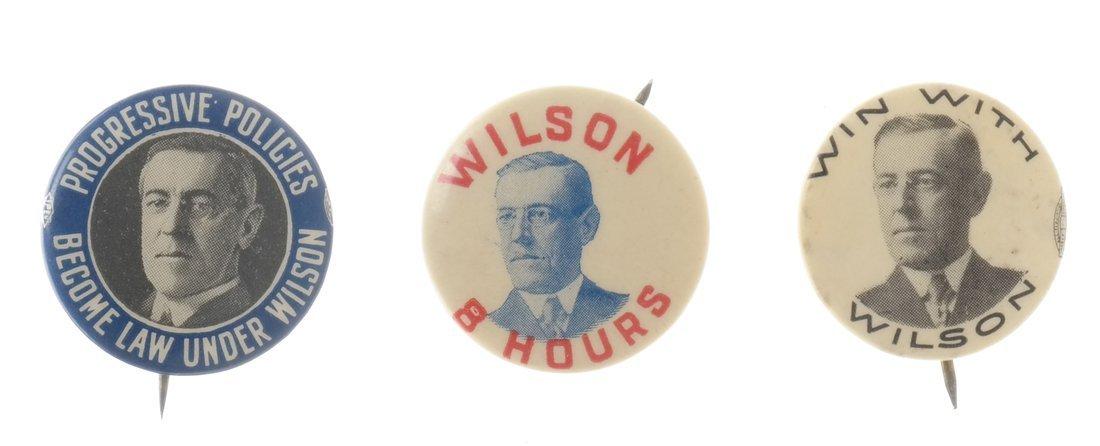 Woodrow Wilson - Ten 1912 &1916 Celluloid Pinbacks - 4