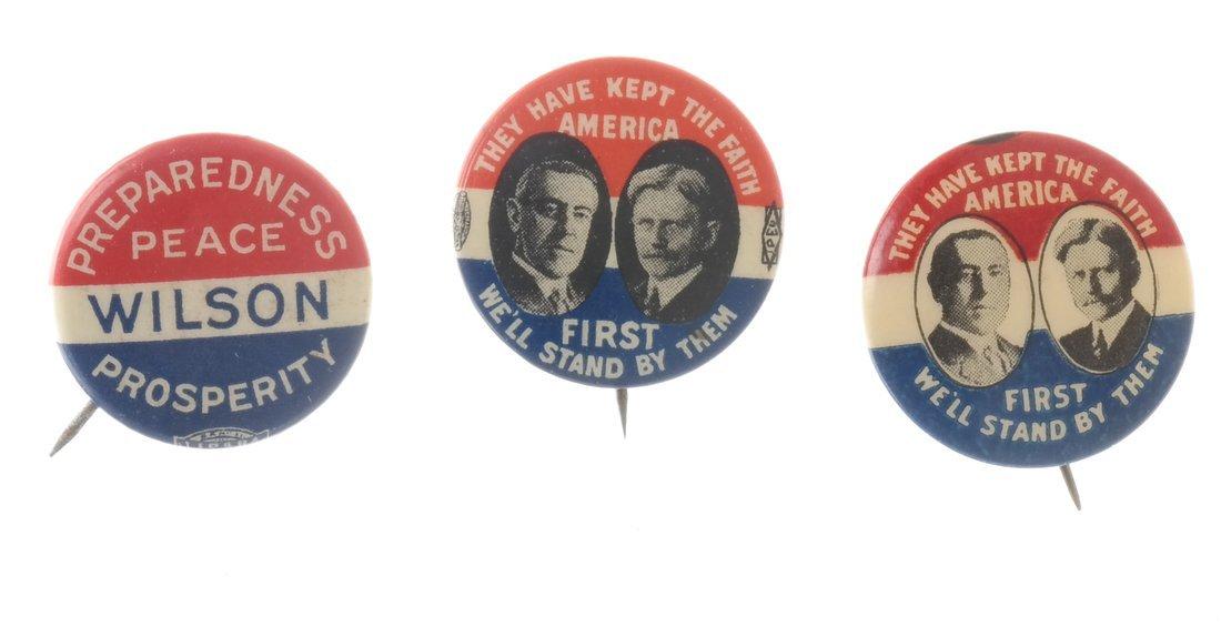 Woodrow Wilson - Ten 1912 &1916 Celluloid Pinbacks - 5