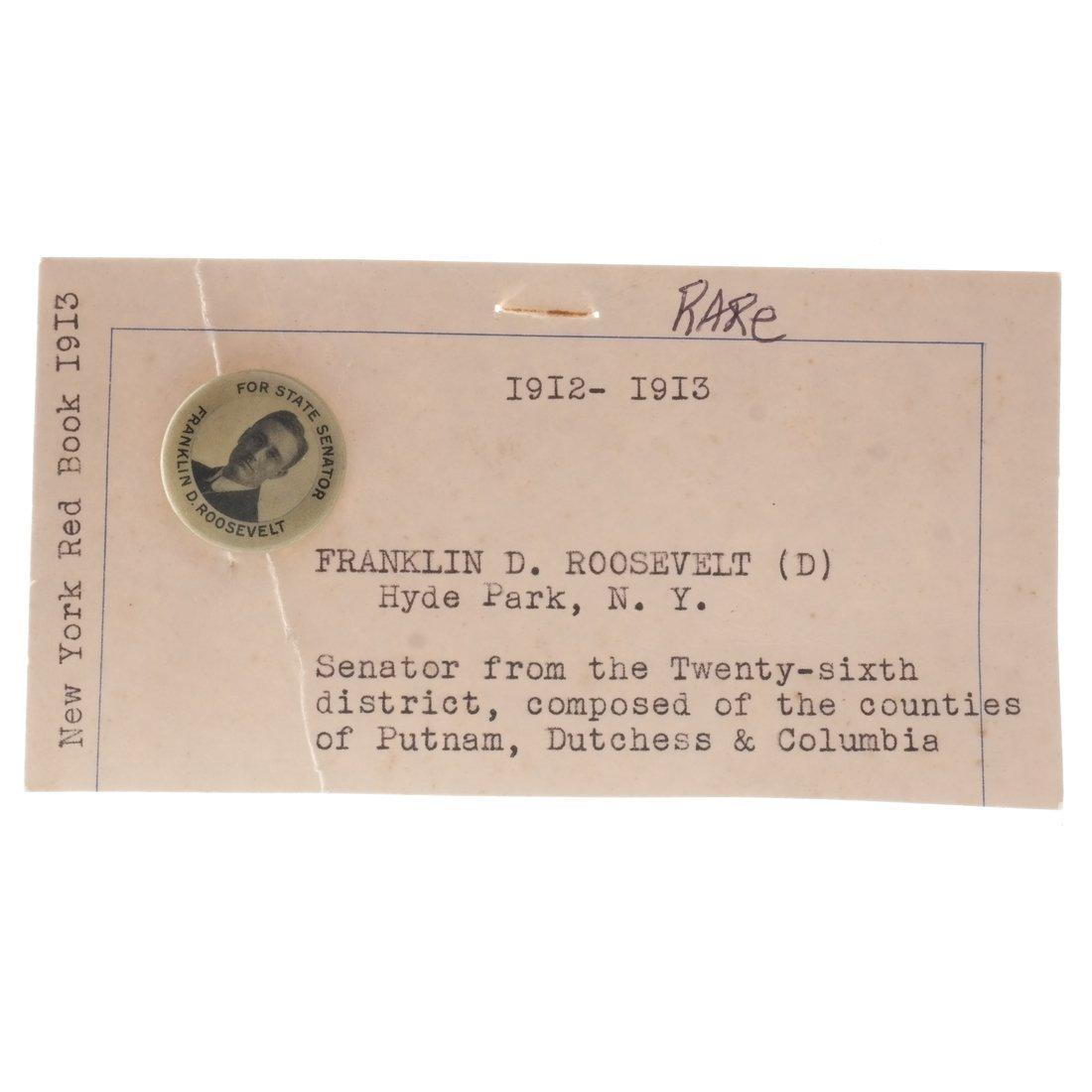 Franklin D. Roosevelt 1912 N.Y. State Senate Hopeful - 3