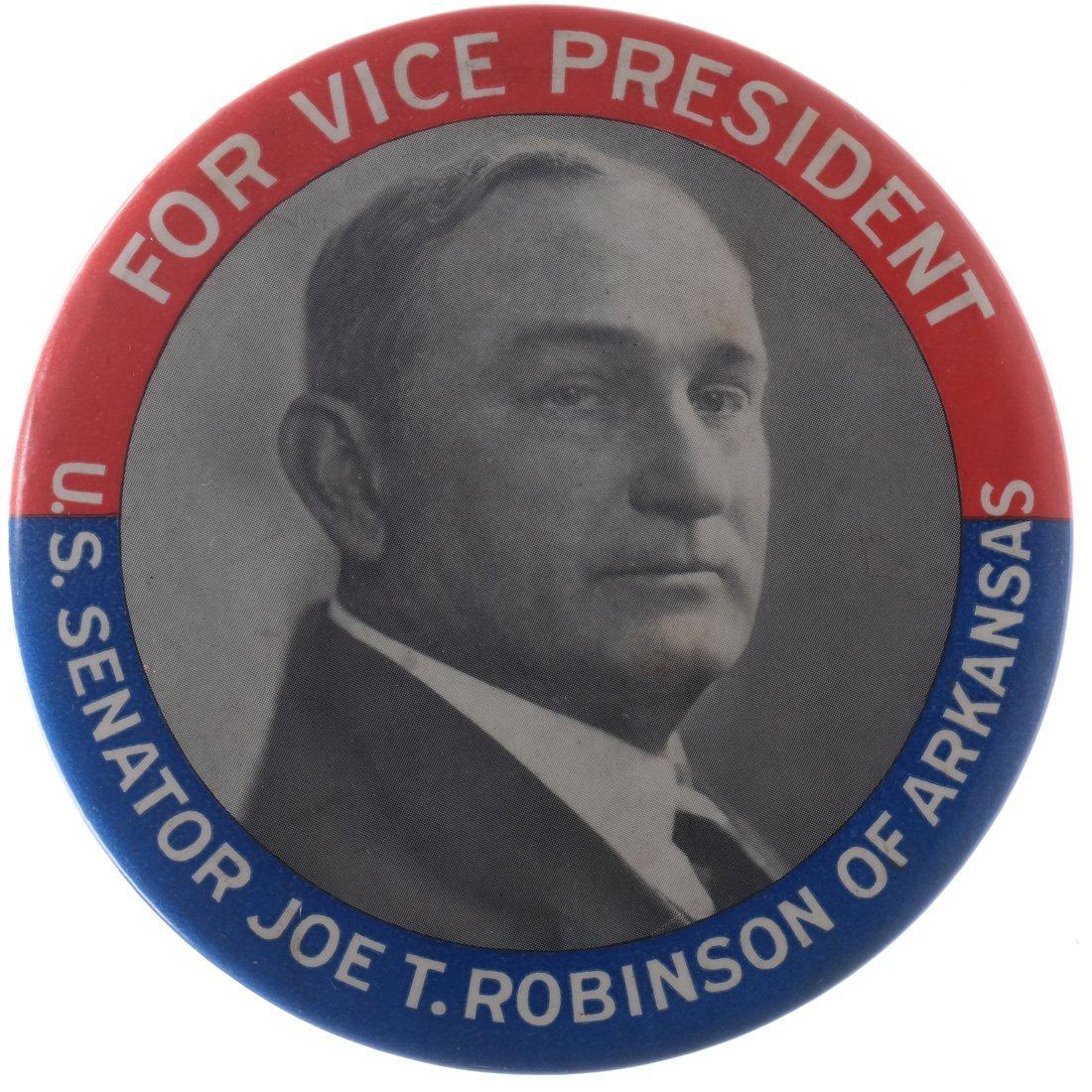 Joe T. Robinson 1928 Large Celluloid Portrait With