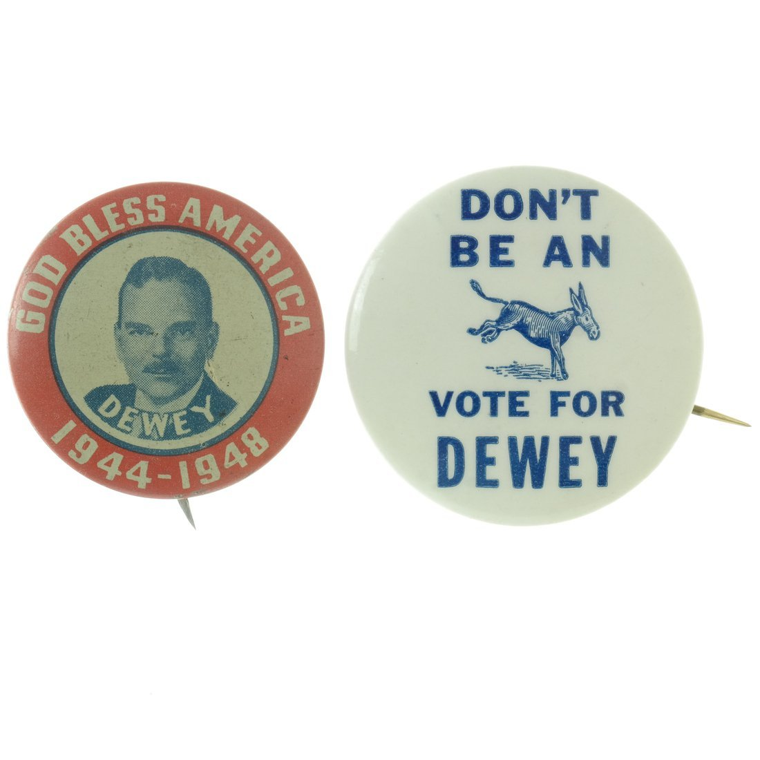 Dewey - Five Buttons & One Pinback - 4