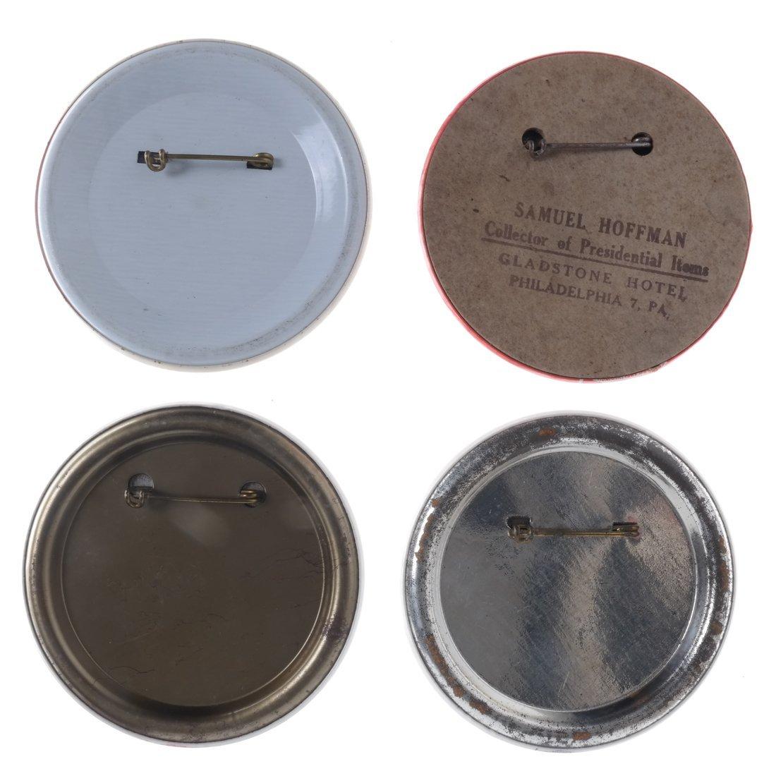 FDR & Dewey - Four 1944 Buttons - 2