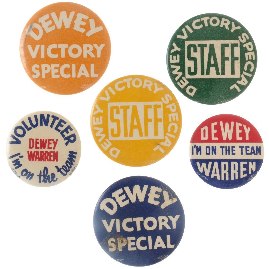 "Thomas E. Dewey 1948 ""Victory,"" ""Staff,"" & ""Team"""
