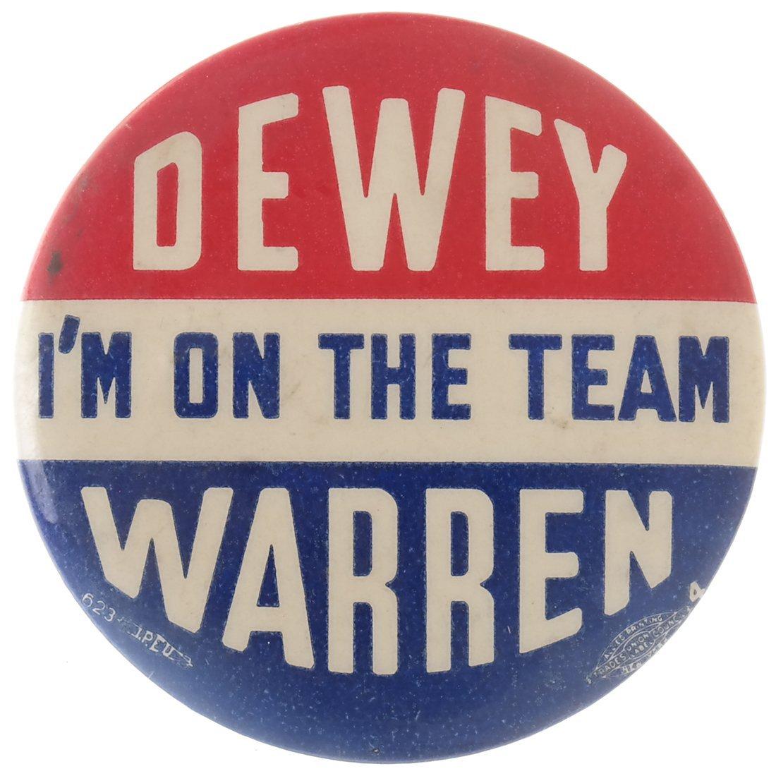 "Thomas E. Dewey 1948 ""Victory,"" ""Staff,"" & ""Team"" - 5"