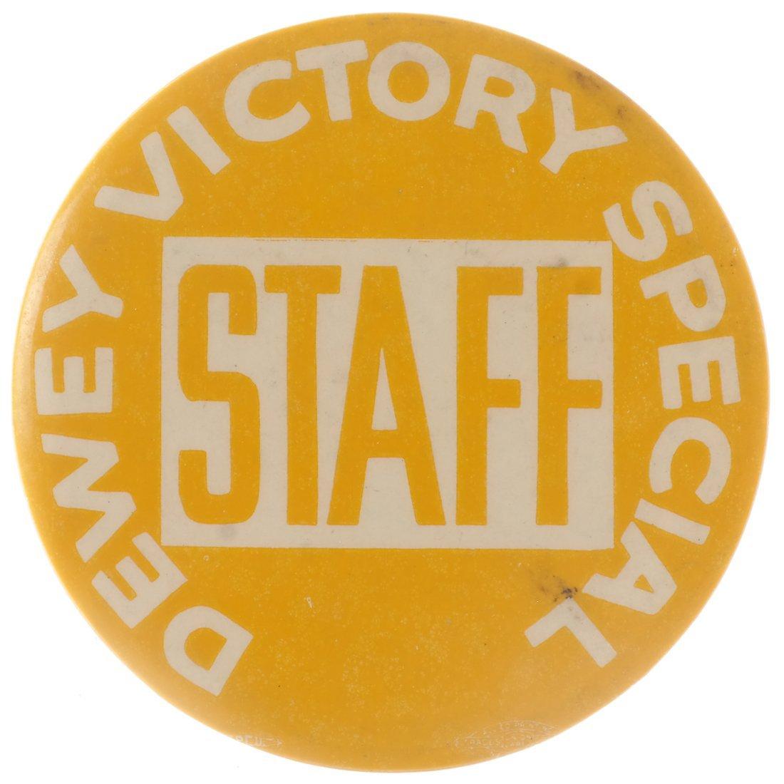 "Thomas E. Dewey 1948 ""Victory,"" ""Staff,"" & ""Team"" - 6"