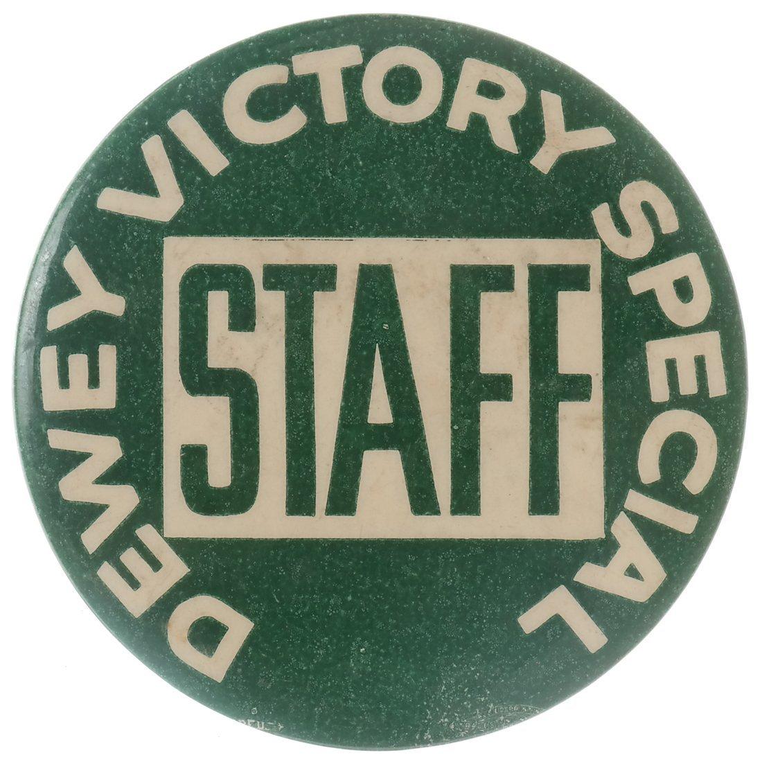 "Thomas E. Dewey 1948 ""Victory,"" ""Staff,"" & ""Team"" - 8"