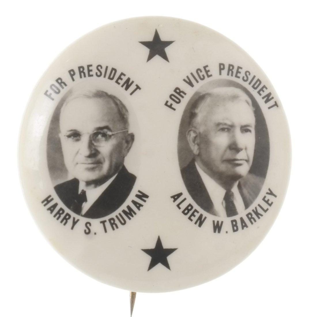 Truman & Barkley 'Black Star' Celluloid Button