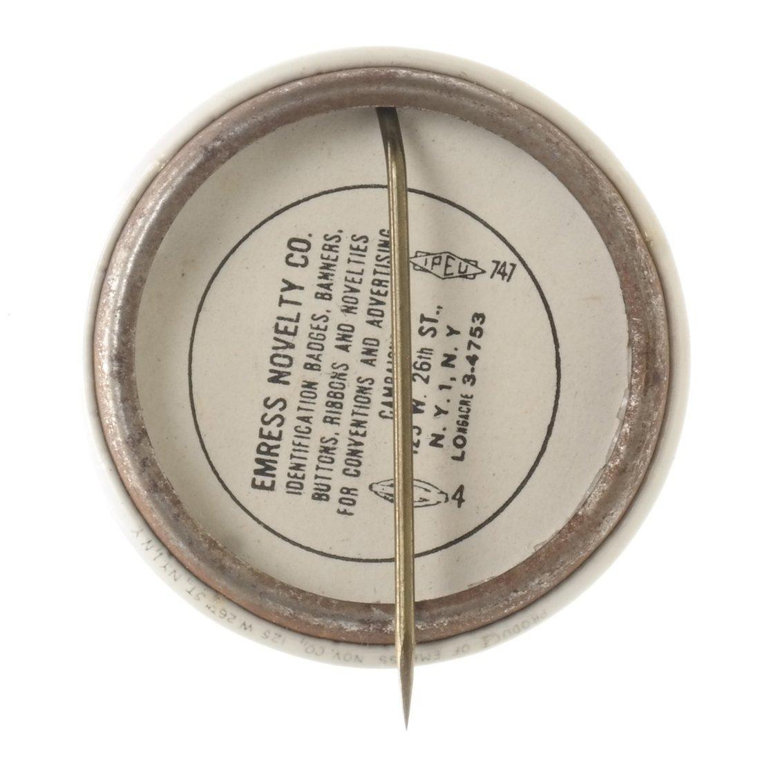 Truman & Barkley 'Black Star' Celluloid Button - 2