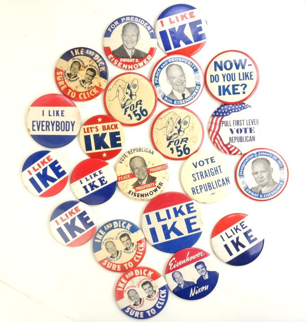 Dwight D. Eisenhower 1952 & 1956 Campaign Buttons