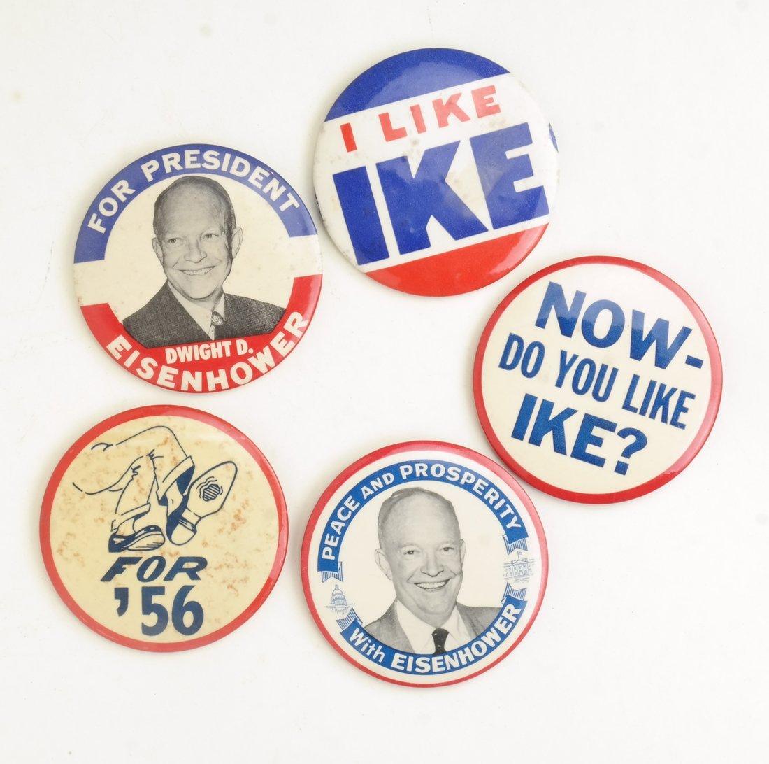 Dwight D. Eisenhower 1952 & 1956 Campaign Buttons - 3