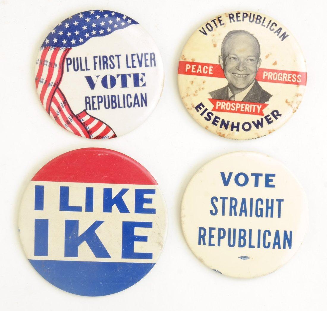 Dwight D. Eisenhower 1952 & 1956 Campaign Buttons - 4