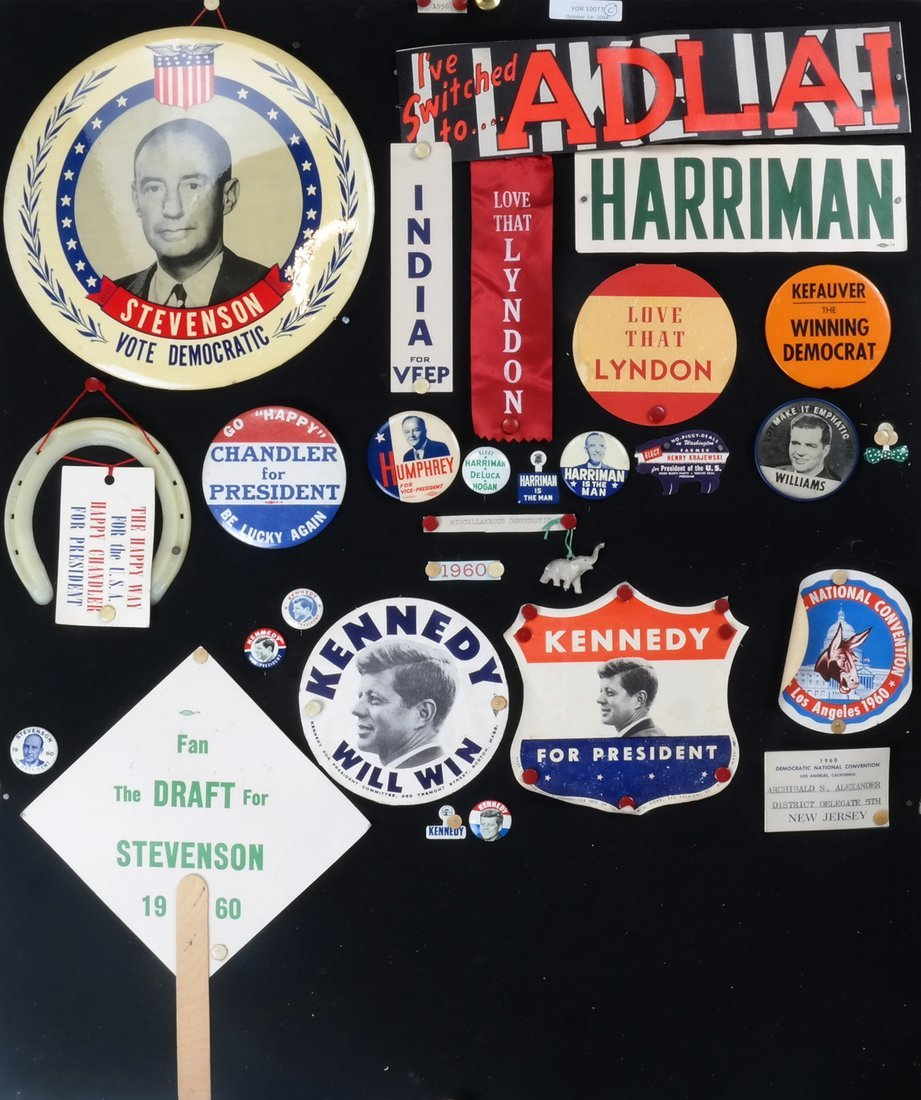 1956 and 1960 Presidential Campaigns Display