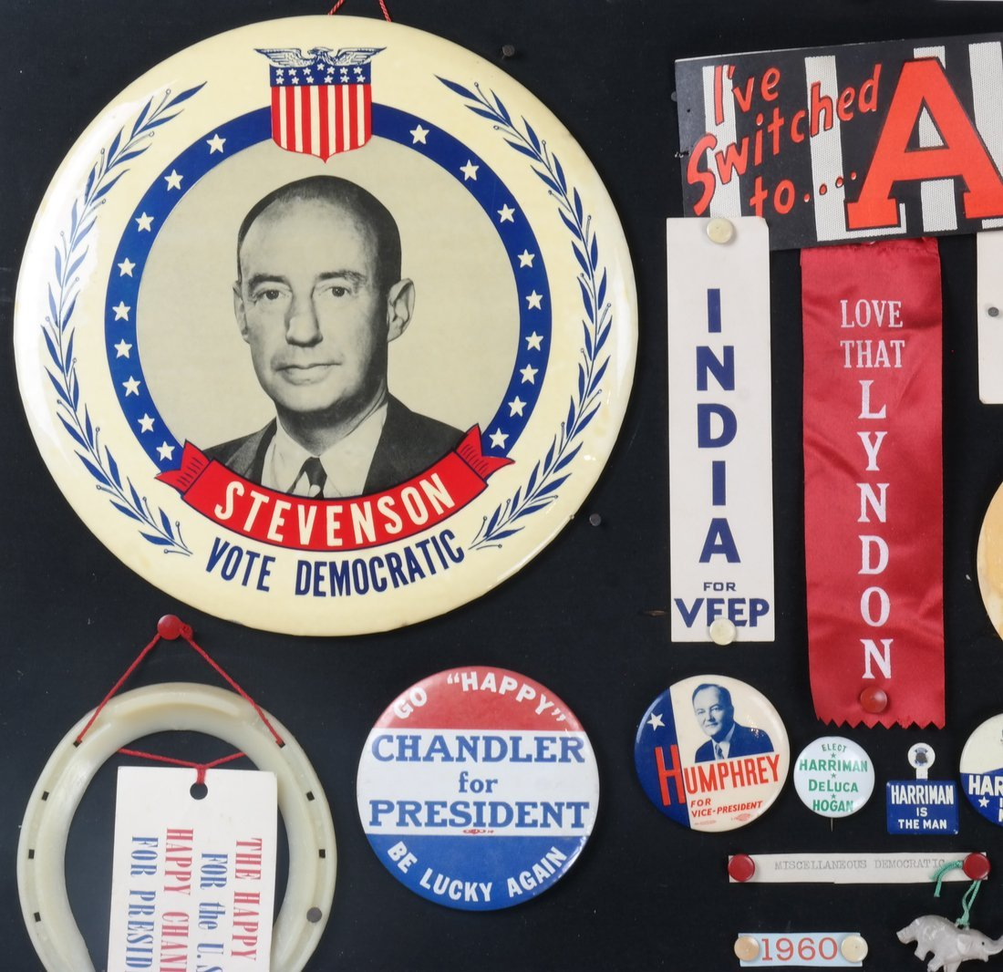 1956 and 1960 Presidential Campaigns Display - 2