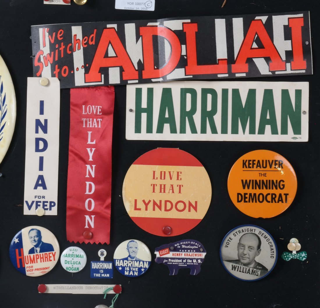 1956 and 1960 Presidential Campaigns Display - 3