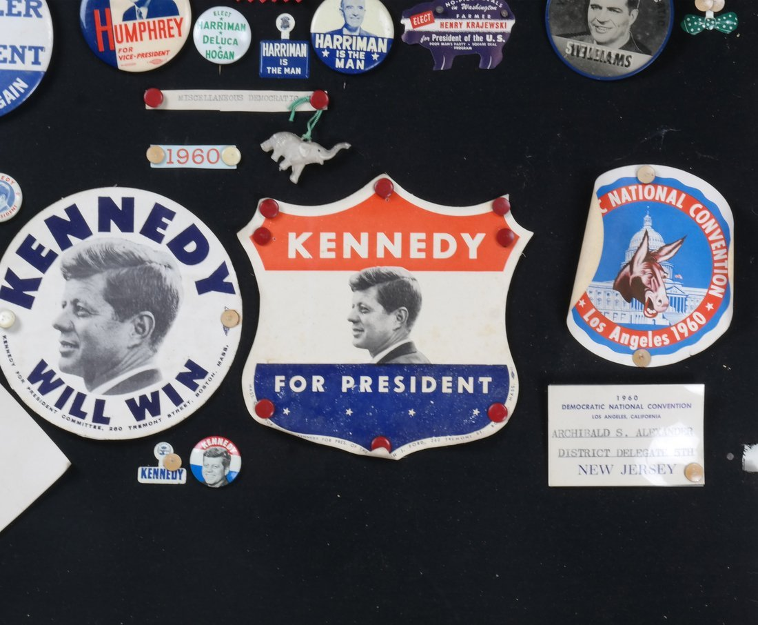 1956 and 1960 Presidential Campaigns Display - 4
