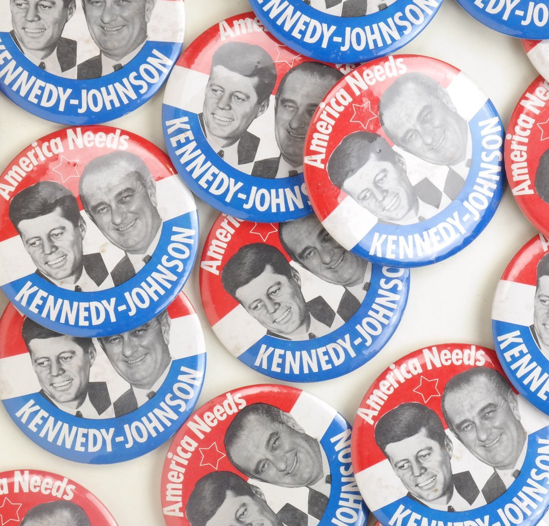 "Kennedy & Johnson 1960 Campaign 3-1/2"" Jugates - 3"