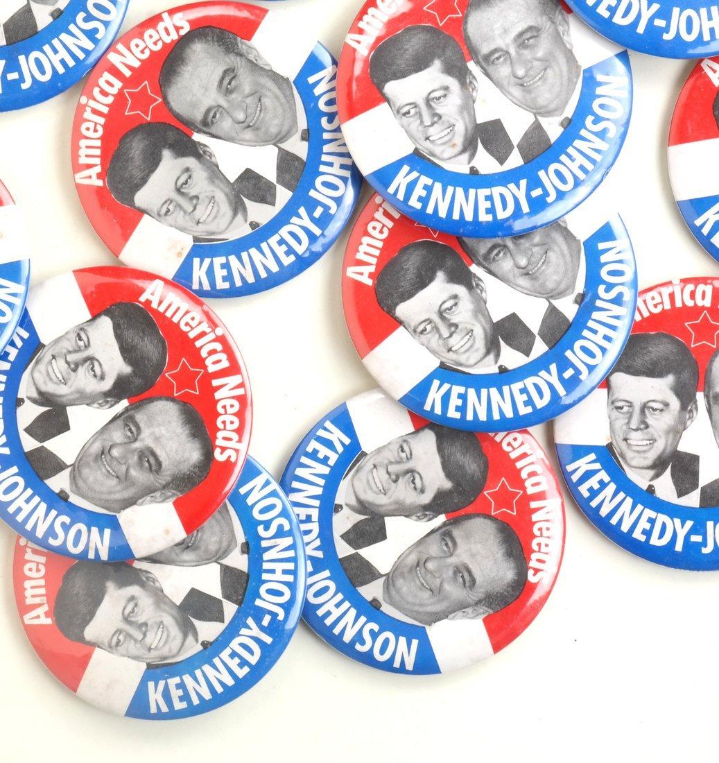 "Kennedy & Johnson 1960 Campaign 3-1/2"" Jugates - 4"