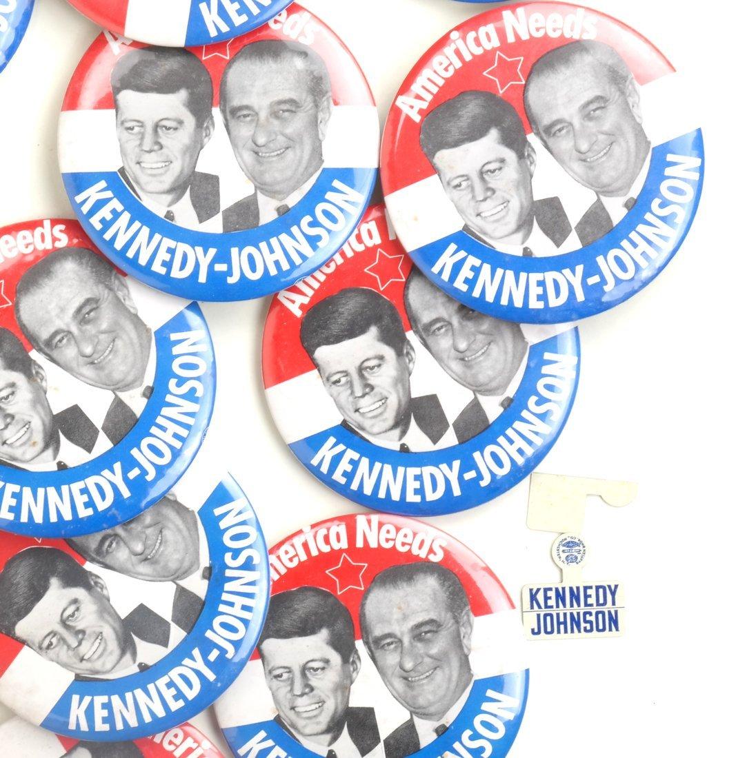 "Kennedy & Johnson 1960 Campaign 3-1/2"" Jugates - 5"
