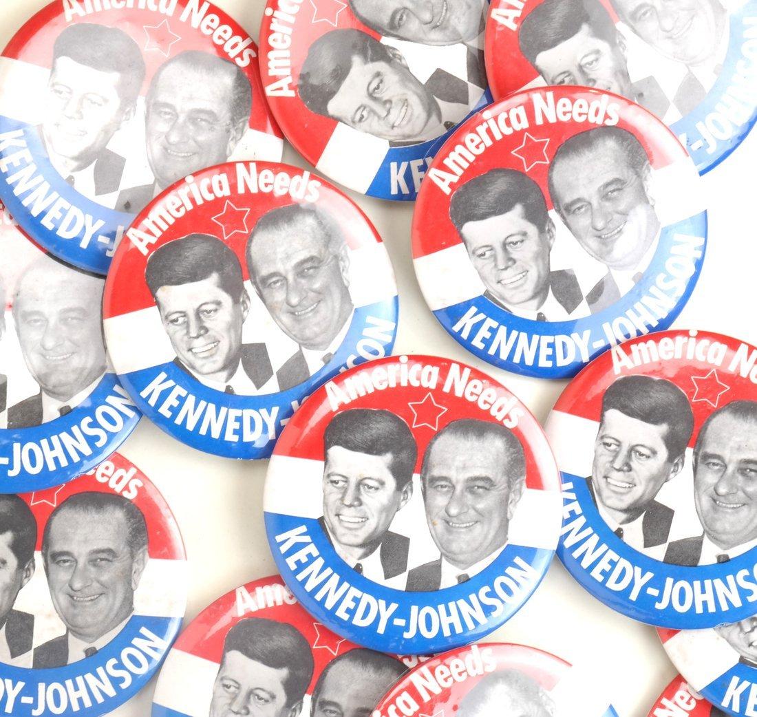"Kennedy & Johnson 1960 Campaign 3-1/2"" Jugates - 6"
