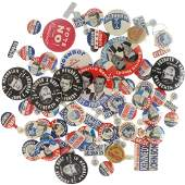 John F Kennedy Assorted 1960 and Memorial Buttons and