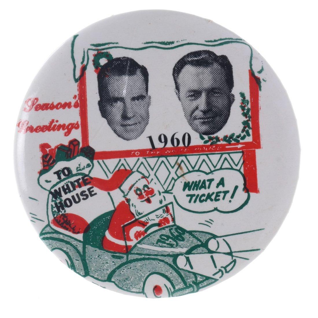 "Rockefeller & Nixon 1960 ""Hopeful"" Christmas Buttons - 3"