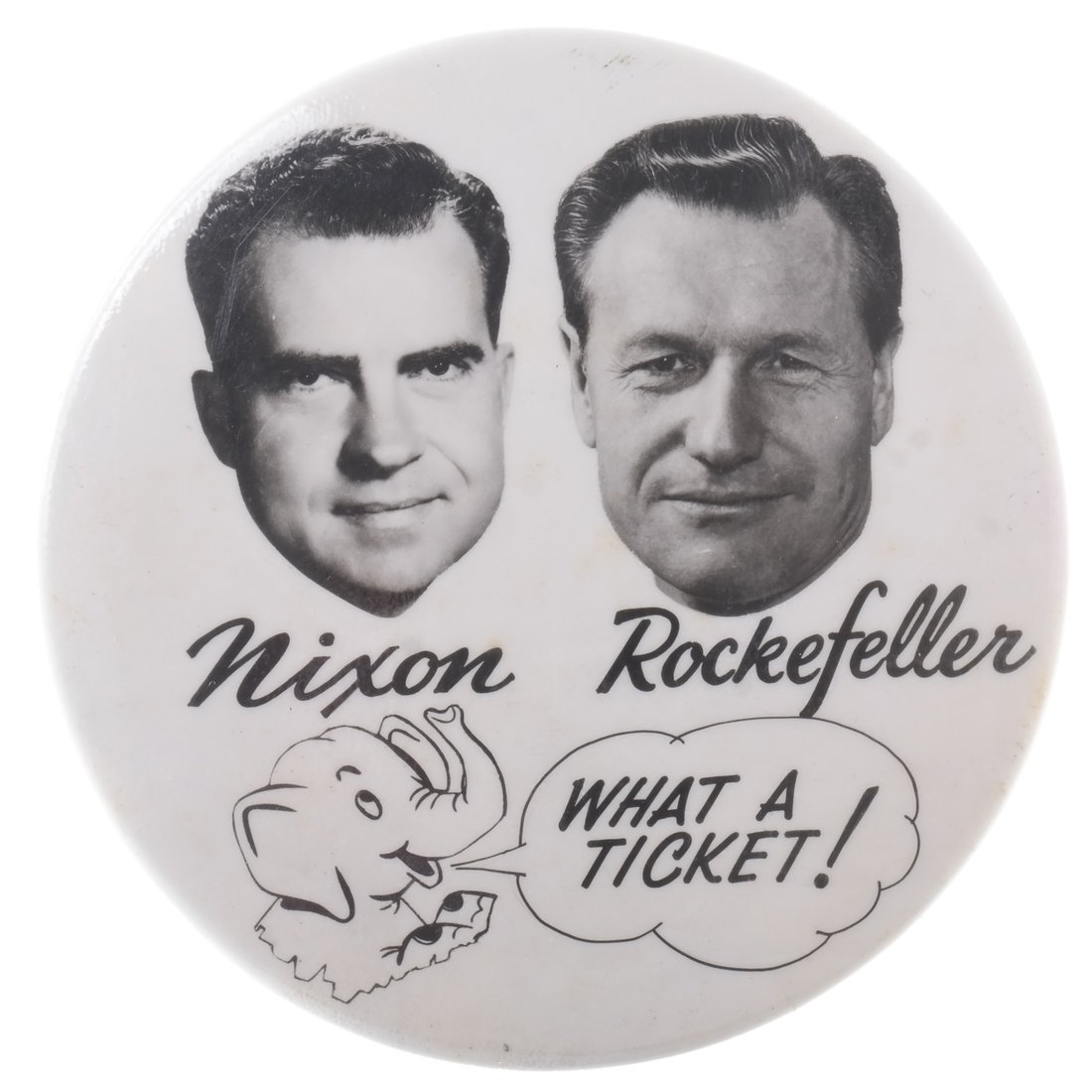 Nixon & Rockefeller 1960 Photographic Jugate Button
