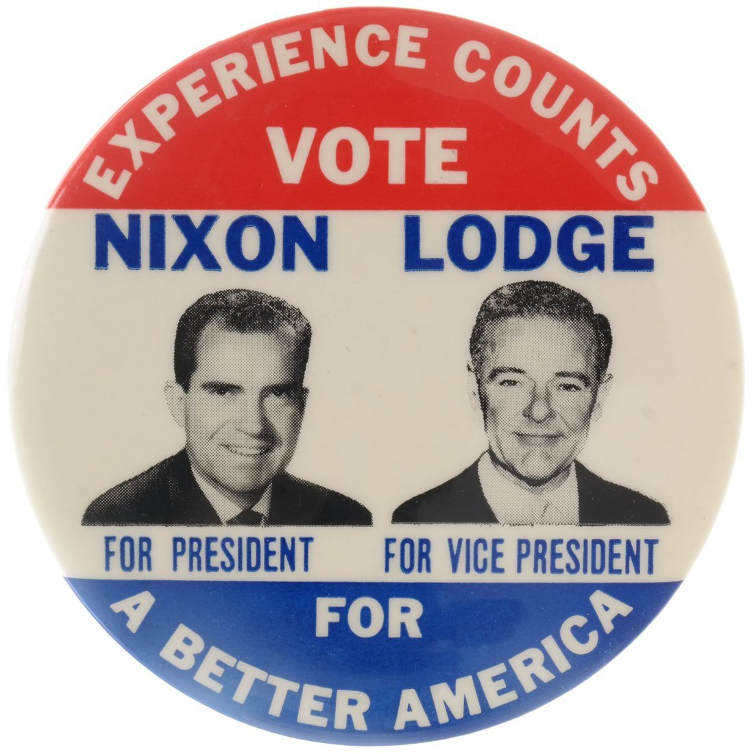 Rare Nixon & Lodge Jugate Celluloid