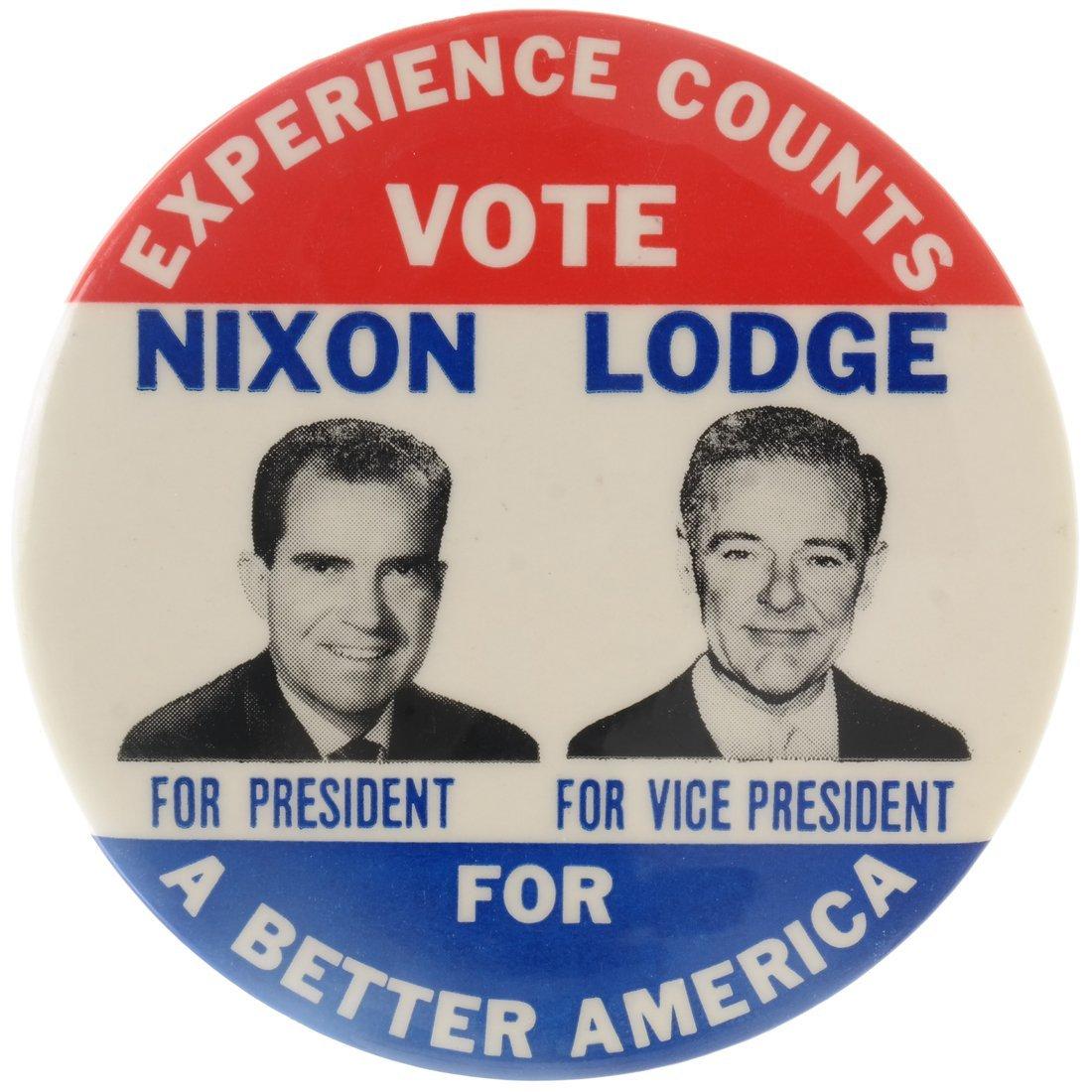 Rare Nixon & Lodge Jugate Celluloid
